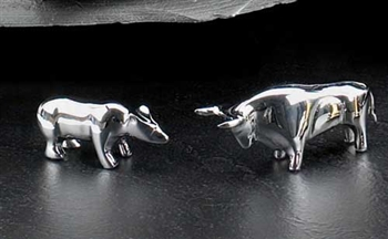 Bull And Bear Paperweight Set Wall Street Paperweights