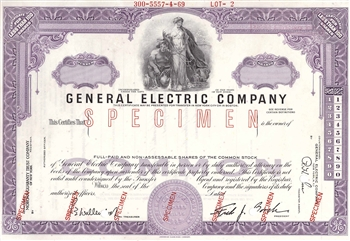 General Electric Company Specimen Stock Certificate