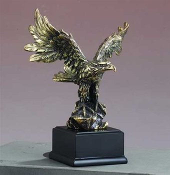 Antique Gold Eagle Statue Antique Gold Eagle Figurine
