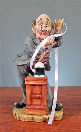 Ceramic Lefton Stockbroker Figurine | Stockbroker Statue