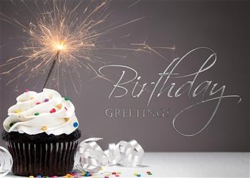 Sparkler Cupcake Birthday Card