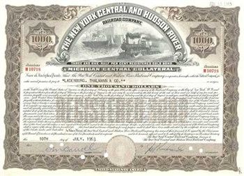 The New York Central And Hudson River Railroad Company Brown