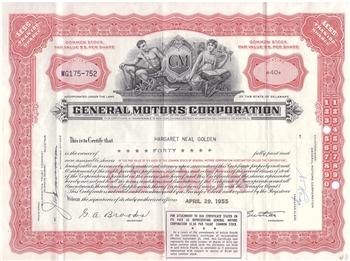 General Motors Corp Stock Certificate
