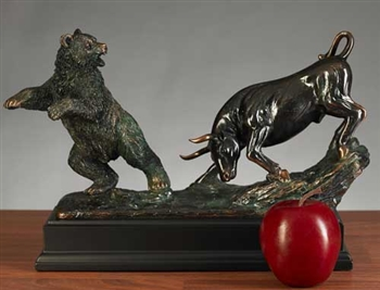 Stock Market Bull Amp Bear Sculpture Fighting Bull And