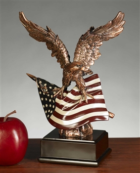 American Flag And Eagle Statue American Flag And Eagle