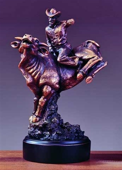 Bucking Bull Rodeo Statue Bronze Rodeo Sculpture