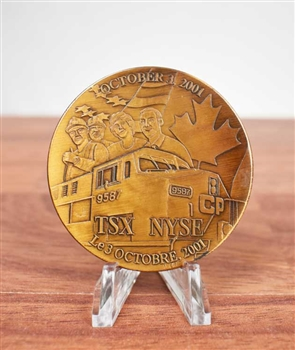 Nyse Canadian Pacific Railroad Listing Medallion Coin