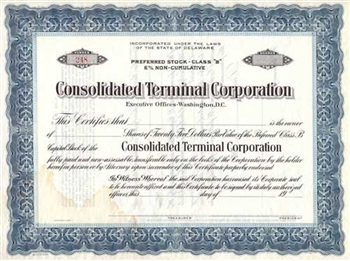 Consolidated Terminal Corporation Preferred Stock