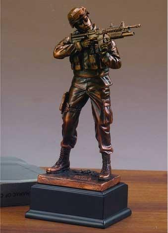 U S Army Statue Bronze Military Figurines